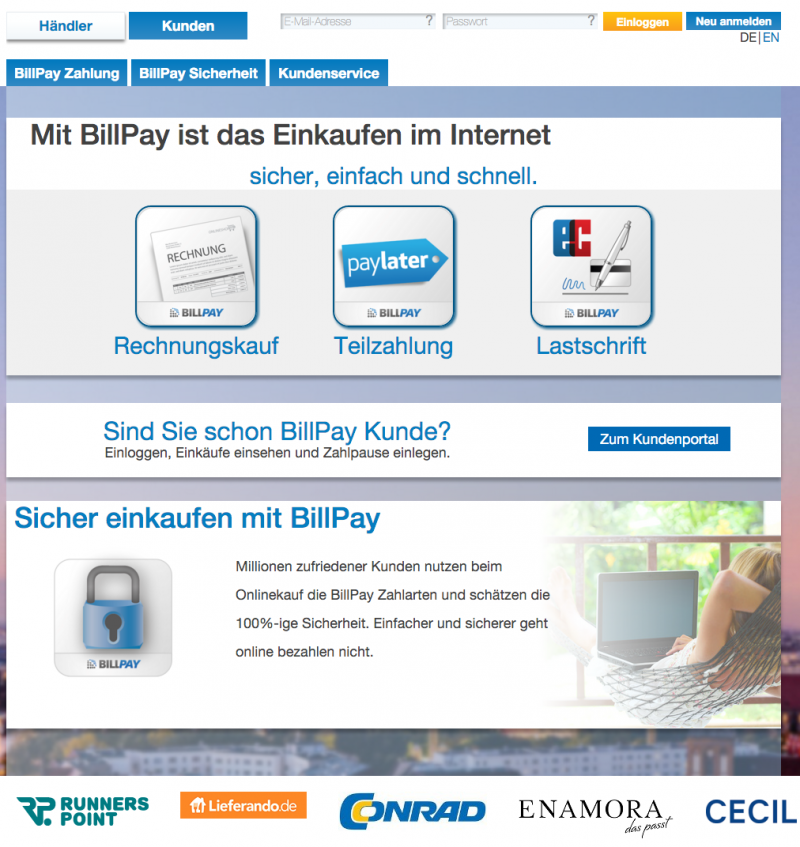 So funktioniert Billpay