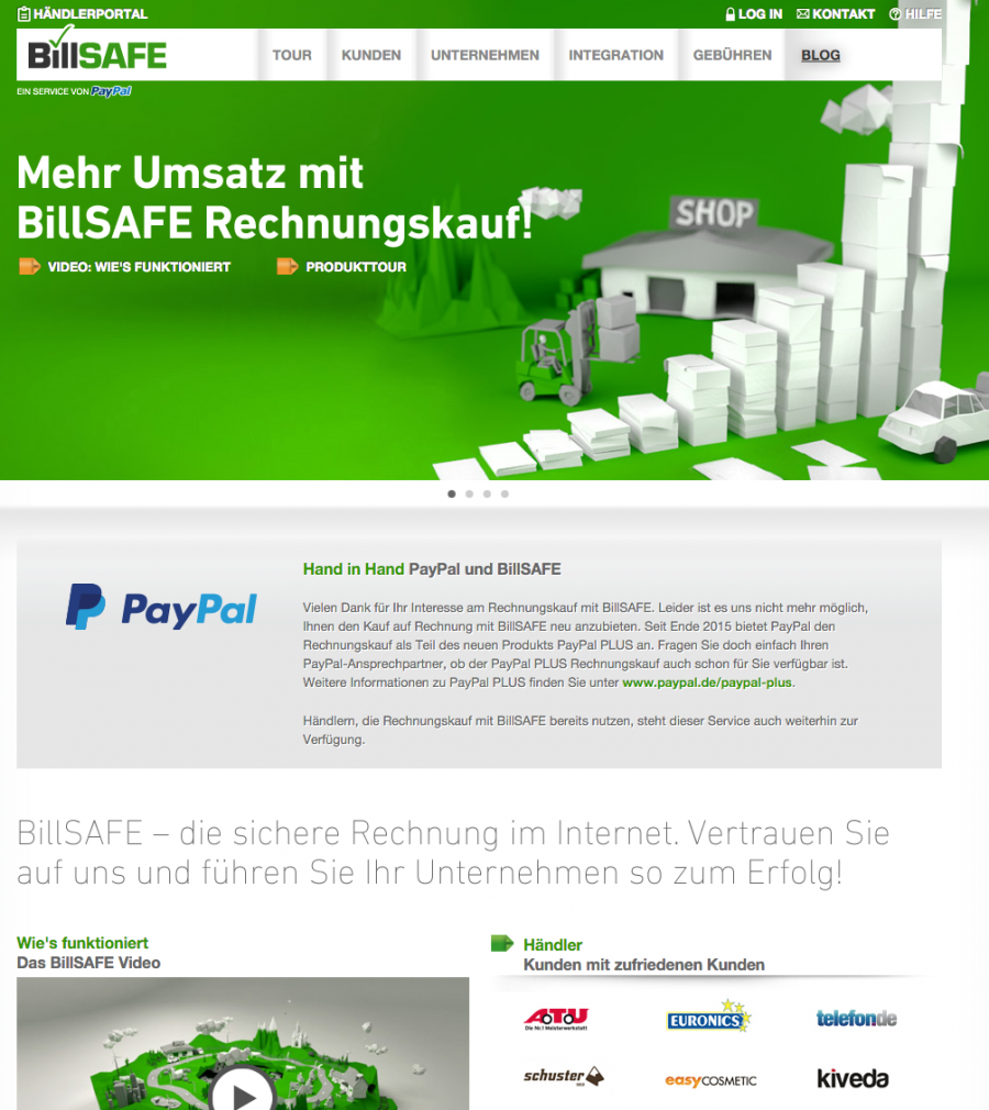 So funktioniert Billsafe