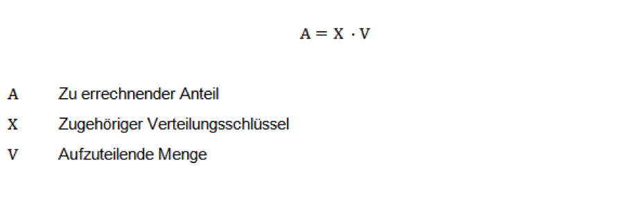 Verteilungsrechnung Formel Erklärung Aufgaben