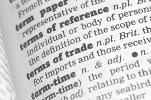 Terms of trade Woerterbuch Definition